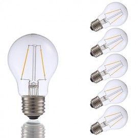2W E26 LED Filament Bulbs A17 2 COB 200 lm Warm White Dimmable 120V 6 pcs