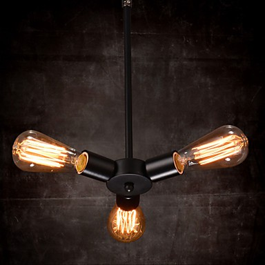 Pendant Light 3 Lights Country Style Wrought Iron