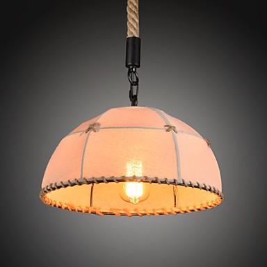 Retro handmake hemp rope countyard chandelier lamp in the industrial countryside style