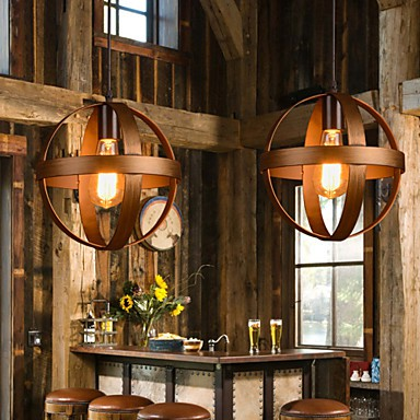 Retro Bar Iron Lamp Modern Minimalist Industrial Style Chandelier