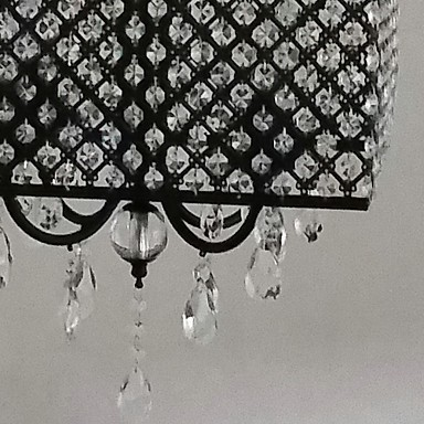 MAX:60W Traditional/Classic Crystal Painting Metal Chandeliers Living Room / Bedroom / Dining Room / Study Room/Office / Entry