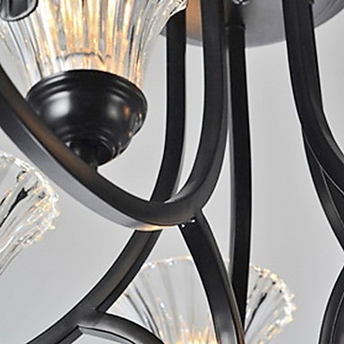 European-Style Vintage 5 Light Chandelier With Horned Arm