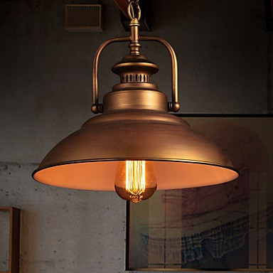 Retro Pendant Light with Metal Umbrella Shade in Old Factory Style