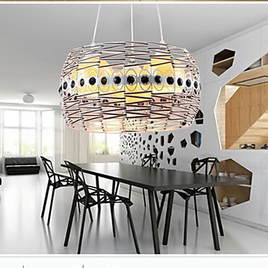 Rattan Art Dining Room lamp LED Pendant lamp Hand Woven