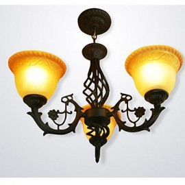 3 Vintage Wrought Iron Chandelier