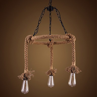 American Country Hemp Chandelier 3