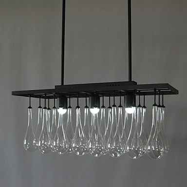 3W Modern/Contemporary Crystal Painting Metal Chandeliers Dining Room / Study Room/Office