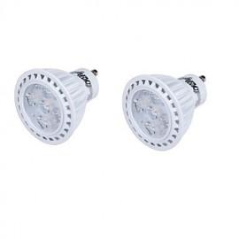2PCS GU10 5W LED Spotlight White/Warm White Light 6000K/3000K 330lm SMD 2835 (AC 85-265V)