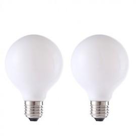 4W E27 LED Filament Bulbs G80 4 COB 450 lm Milky White AC 220-240 V 2 pcs