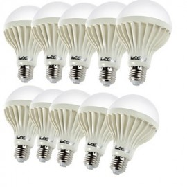 10PCS E27 5W 9*SMD5630 450LM 3000K Warm White Light LED Globe Bulbs (AC220V)
