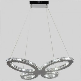 3w Modern/Contemporary LED Chrome Metal Chandeliers Living Room / Hallway