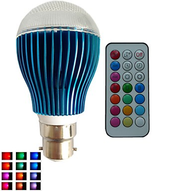 1 pcs B22 9W 3X3W LED Dimmable/21Keys Remote-Controlled/Decorative RGB Led Globe Bulbs AC85-265V
