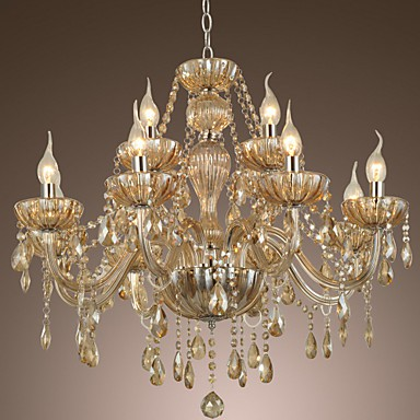 Chandelier Crystal Luxury Modern 2 Tiers Living 12 Lights