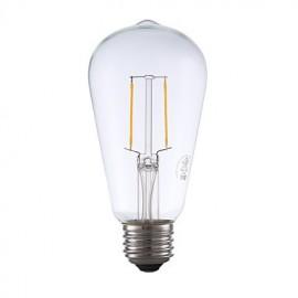 2W E26 LED Filament Bulbs ST19 2 COB 220 lm Warm White Dimmable / Decorative AC 110-130 V 1 pcs