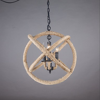 MAX:60W Country Mini Style Painting Metal Chandeliers Living Room / Bedroom / Dining Room / Hallway