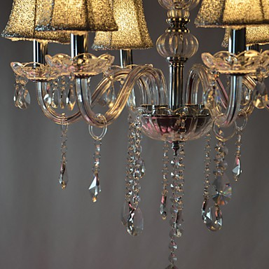 Modern Luxury 6 Lights Chandelier In Crystal Decoration