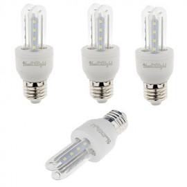4PCS E27 3W 210lm Warm White/White Light 16 SMD 2835 LED Corn Lamps (AC 85-265V)
