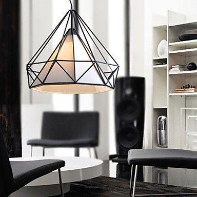 Chandelier, 1 Light, Simple Artistic Stainless Steel Plating