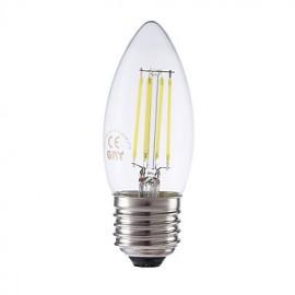 3.5W E27 LED Filament Bulbs B35 4 COB 400/350 lm Warm White / Cool White Dimmable AC 220-240 V 1 pcs