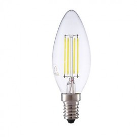3.5W E14 LED Filament Bulbs B35 4 COB 350/400 lm Warm White / Cool White Dimmable AC 220-240 V 1 pcs