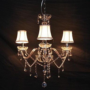 Modern Splendid 3 Lights Chandelier With Crystal Arm