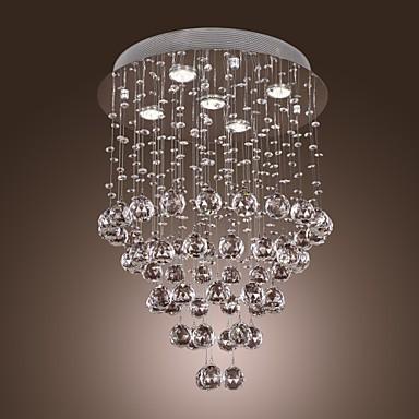 Crystal Chandelier with 5 lights - Baroque Design (K9 Crystal)