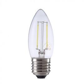 2W E27 LED Filament Bulbs B35 2 COB 250 lm Warm White / Cool White AC 220-240 V 1 pcs