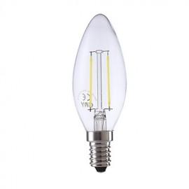 2W E14 LED Filament Bulbs B35 2 COB 250 lm Warm White / Cool White AC 220-240 V 1 pcs