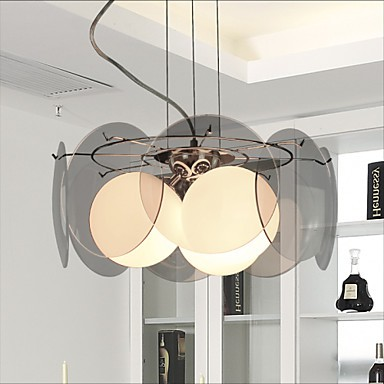 New deals Milan Simple Fashion Style Living Room Dining Room Chandelier Light Smoke Gray Glass Chandelier