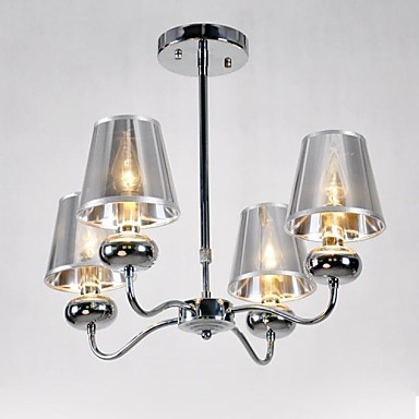 Maximum60W Modern/Contemporary Mini Style Electroplated Metal Chandeliers / Pendant Lights / Flush MountLiving Room / Bedroom / Dining