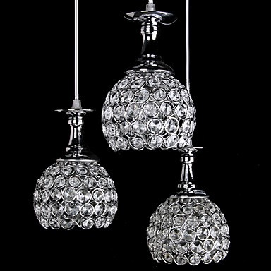 Crystal Chandeliers, Modern/Contemporary Living Room Metal