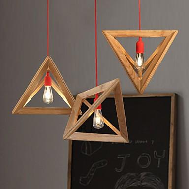 Nordic Wood Chandelier Restaurant Cafe Clothing Creative Personality Retro Decorative Oak Chandelier