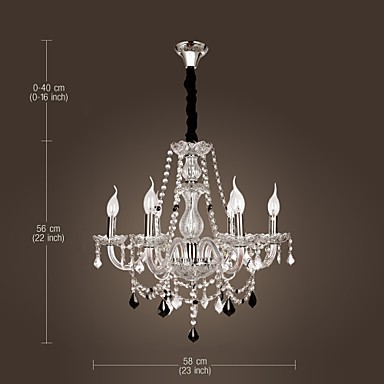 20-60W Rustic/Lodge Crystal Others Glass Chandeliers Living Room / Bedroom