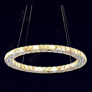 LED Crystal Pendant Lights Lighting Lamps Modern Fixtures Amber K9 Crystal Round Single Ring 30CM