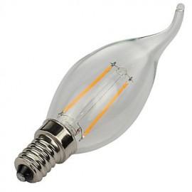 E14 2W 180LM Warm/Cool White Candle Bulbs 360 Degree LED Filament Lamp (85-265V)