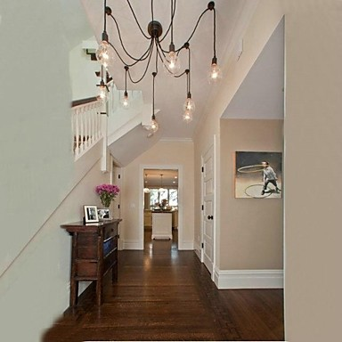Bulb Chandelier Rural Contracted Style Of North America