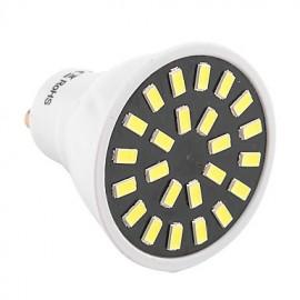High Bright 5W GU10 LED Spotlight 24 SMD 5733 400-500 lm Warm White / Cool White AC 110V/ AC 220V