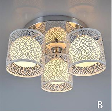 Three Light LED Ceiling Glass Dome Light Flush Mount