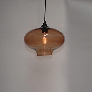 Bubble Design Pendant, 1 Light, Minimalist Iron Painting