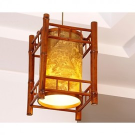 Max 15W Retro / Lantern LED Wood/Bamboo Chandeliers Dining Room / Study Room/Office / Hallway