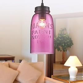 1- Light Modern Glass Pendant Lights in Transparent Bubble Design