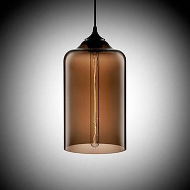 Bottle Design Pendant, 1 Light, Concise Iron Painting