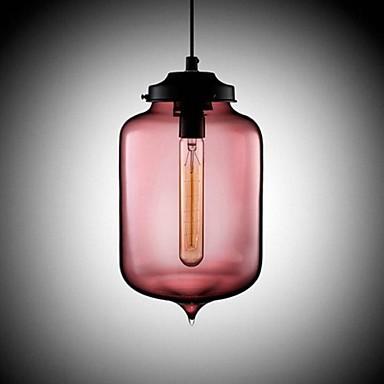 Bottle Design Pendant, 1 Light, Minimalist Iron Painting