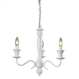 Max 60W Rustic/Lodge Electroplated Chandeliers Living Room / Bedroom / Dining Room / Hallway / Garage