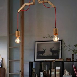 Chandeliers Mini Style Modern/Contemporary Living Room/Bedroom/Dining Room/Study Room/Office Wood/Bamboo