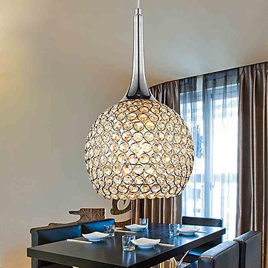 60W Modern/Contemporary Crystal Chrome Metal Chandeliers Living Room