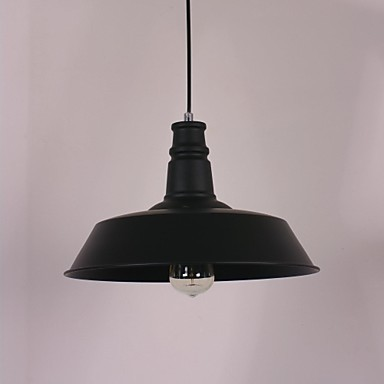 Black Modern Pendant Light in Circle Featured Lampshade