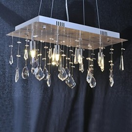 40W Traditional/Classic Crystal Chrome Metal Chandeliers Living Room / Dining Room / Hallway