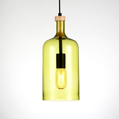 Chandeliers Bulb Included Modern/Bedroom / Dining Room/ Study Room/ Office/ Kids Room/ Hallway Pendant Light with Glass Shade
