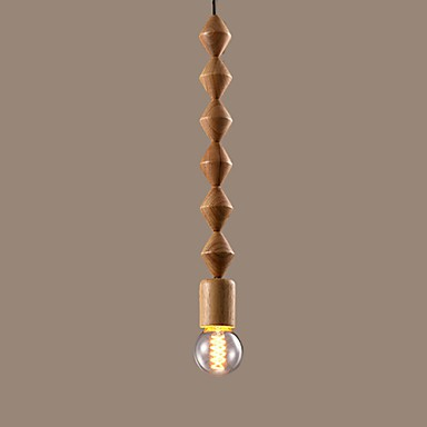 MAX 60W Traditional/Classic Mini Style Wood/Bamboo Chandeliers Living Room / Bedroom / Dining Room / Study Room/Office